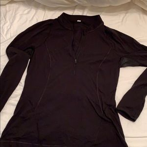 Lululemon Black Running Zip Up
